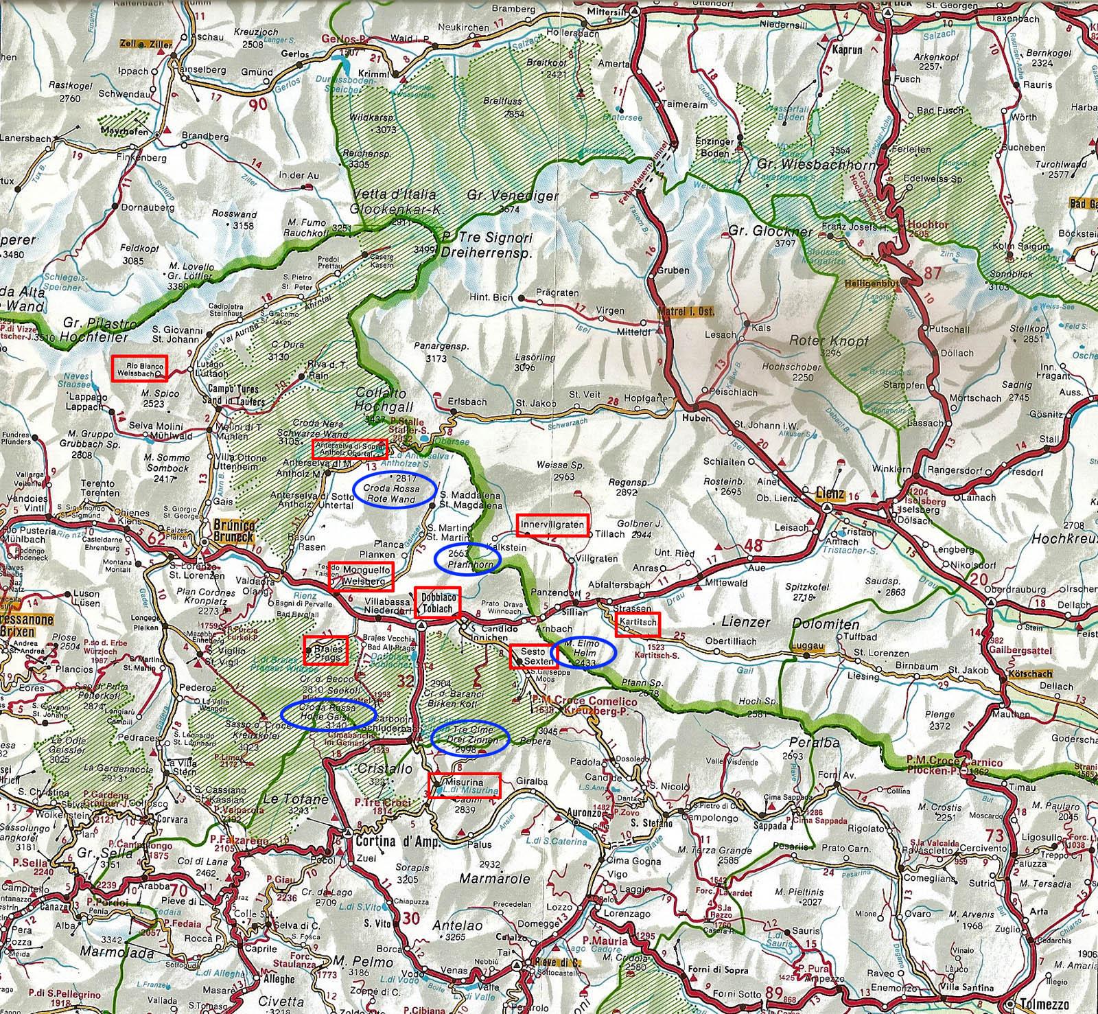 Valle Aurina Cartina Geografica.Val Pusteria